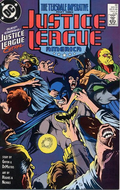 Cover for Justice League America (DC, 1989 series) #32 [Direct]