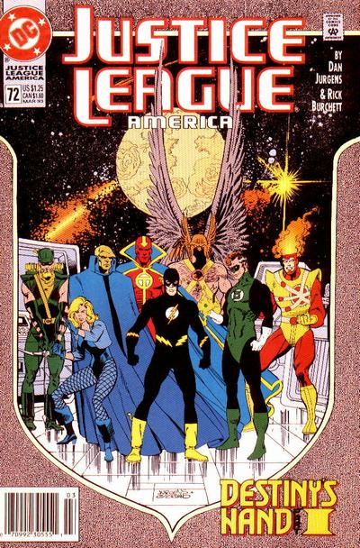 Cover for Justice League America (DC, 1989 series) #72