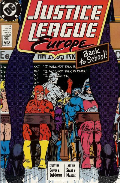 Cover for Justice League Europe (DC, 1989 series) #6 [Direct]