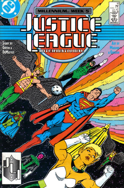 Cover for Justice League International (DC, 1987 series) #10