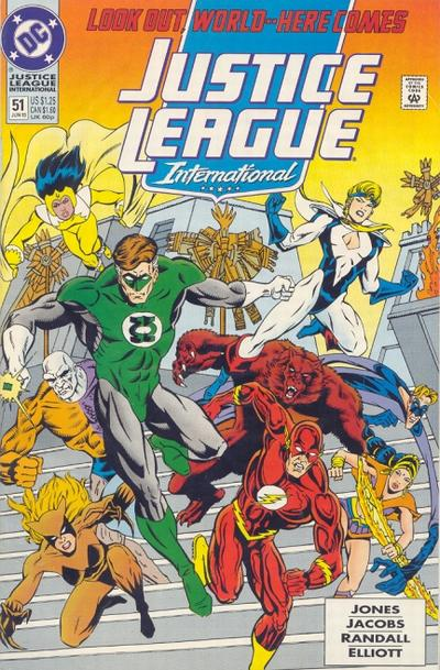 Cover for Justice League International (DC, 1993 series) #51