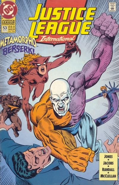 Cover for Justice League International (DC, 1993 series) #53