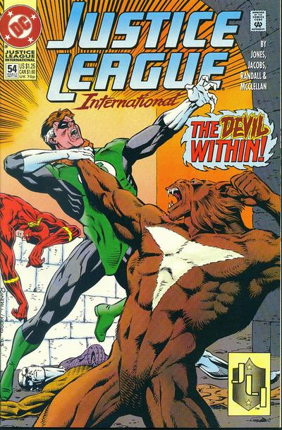 Cover for Justice League International (DC, 1993 series) #54