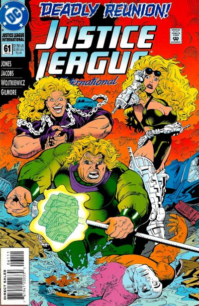 Cover for Justice League International (DC, 1993 series) #61