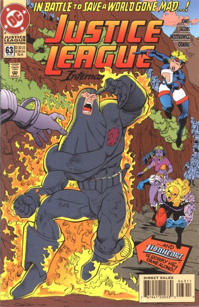 Cover for Justice League International (DC, 1993 series) #63