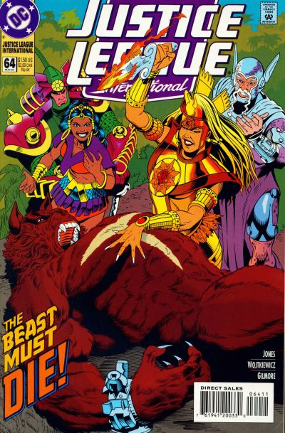 Cover for Justice League International (DC, 1993 series) #64