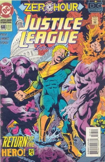Cover for Justice League International (DC, 1993 series) #68