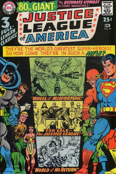 Cover for Justice League of America (DC, 1960 series) #58