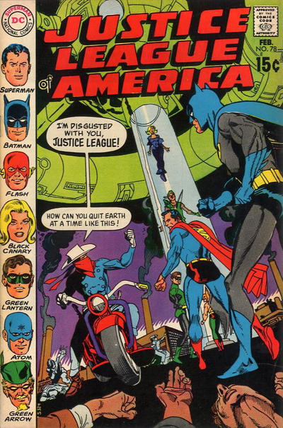 Cover for Justice League of America (DC, 1960 series) #78