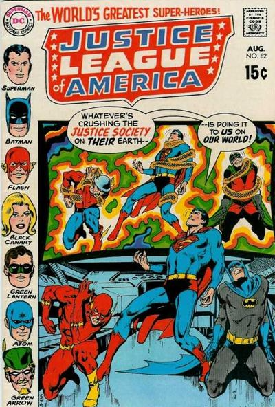 Cover for Justice League of America (DC, 1960 series) #82