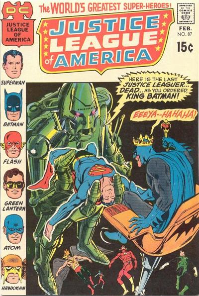 Cover for Justice League of America (DC, 1960 series) #87
