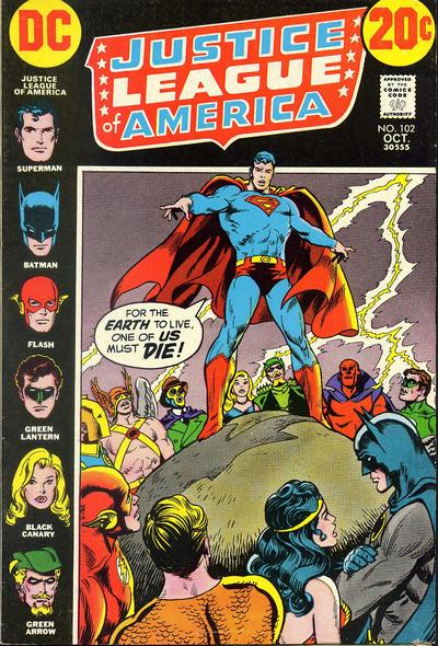 Cover for Justice League of America (DC, 1960 series) #102
