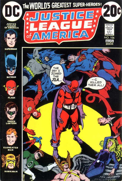 Cover for Justice League of America (DC, 1960 series) #106