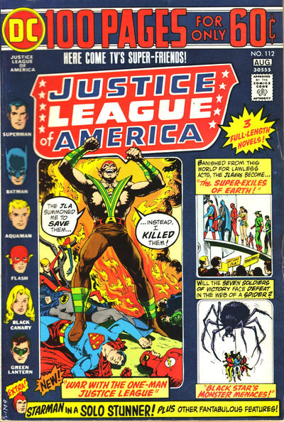 Cover for Justice League of America (DC, 1960 series) #112