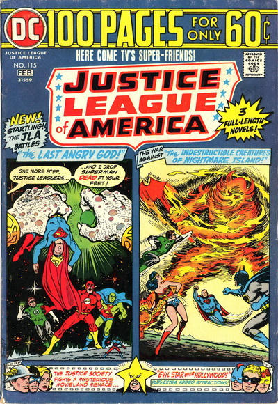 Cover for Justice League of America (DC, 1960 series) #115