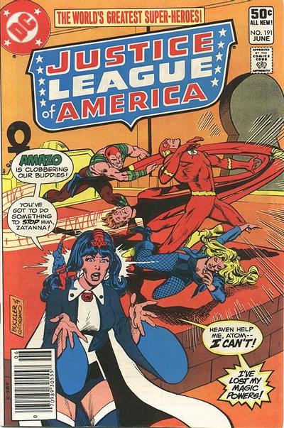 Cover for Justice League of America (DC, 1960 series) #191 [Newsstand]