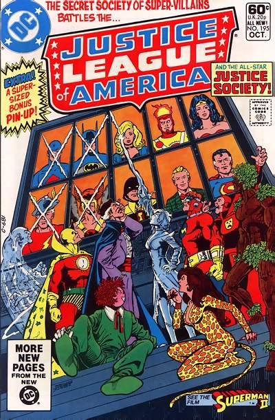 Cover for Justice League of America (DC, 1960 series) #195 [Direct Sales]