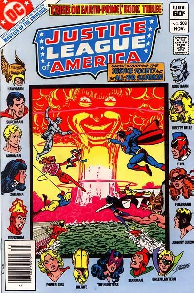Cover for Justice League of America (DC, 1960 series) #208 [Direct Sales (Comic Book Stores)]