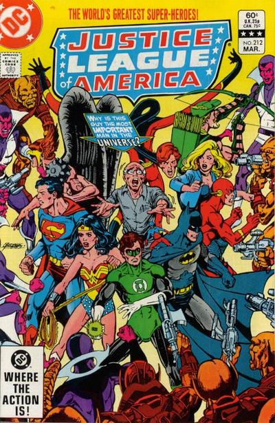 Cover for Justice League of America (DC, 1960 series) #212 [Direct-Sales]