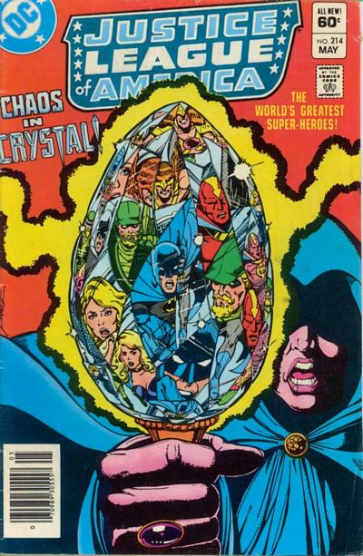 Cover for Justice League of America (DC, 1960 series) #214 [Newsstand]