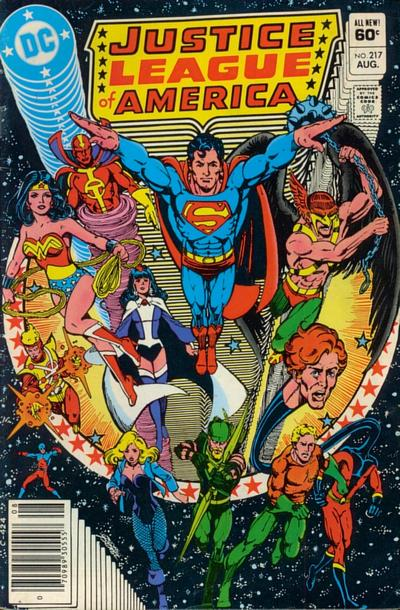 Cover for Justice League of America (DC, 1960 series) #217 [Direct Sales]