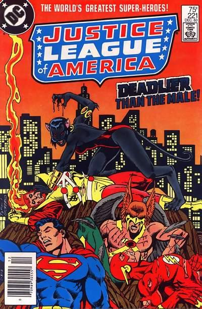 Cover for Justice League of America (DC, 1960 series) #221 [Direct Sales]