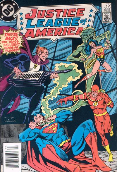 Cover for Justice League of America (DC, 1960 series) #237 [Newsstand]