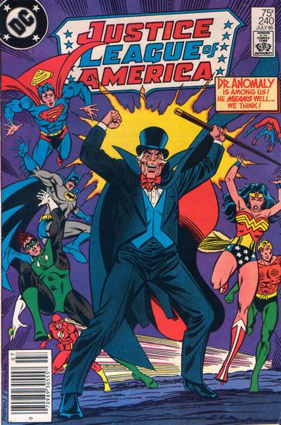 Cover for Justice League of America (DC, 1960 series) #240 [Newsstand]