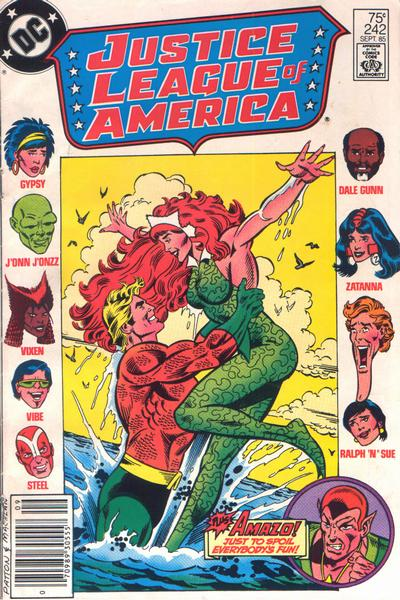 Cover for Justice League of America (DC, 1960 series) #242 [Newsstand]