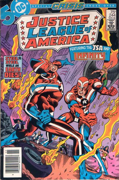 Cover for Justice League of America (DC, 1960 series) #244 [Direct Sales (Comic Book Stores)]