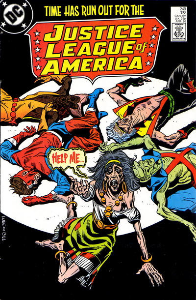 Cover for Justice League of America (DC, 1960 series) #249 [Newsstand Edition]