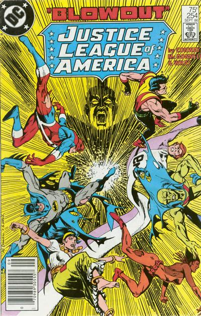 Cover for Justice League of America (DC, 1960 series) #254 [Direct Sales]