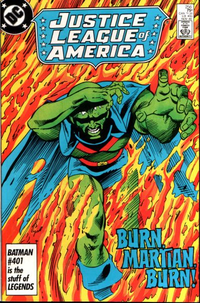 Cover for Justice League of America (DC, 1960 series) #256 [Direct]