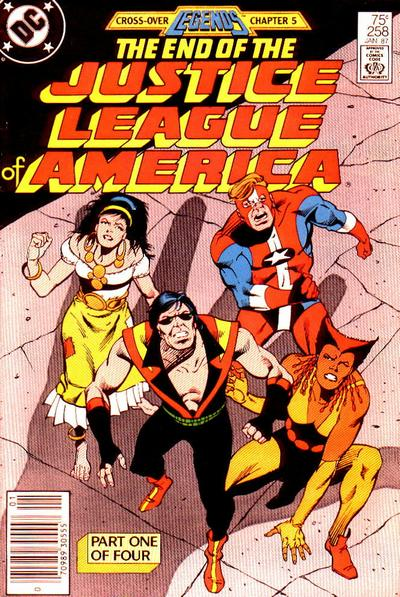 Cover for Justice League of America (DC, 1960 series) #258 [Direct Sales]