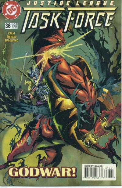 Cover for Justice League Task Force (DC, 1993 series) #36