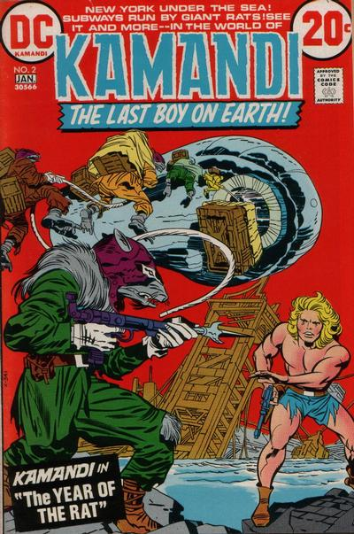 Cover for Kamandi, The Last Boy on Earth (DC, 1972 series) #2