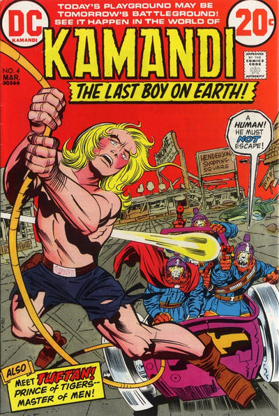 Cover for Kamandi, The Last Boy on Earth (DC, 1972 series) #4