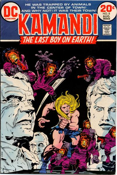 Cover for Kamandi, The Last Boy on Earth (DC, 1972 series) #8