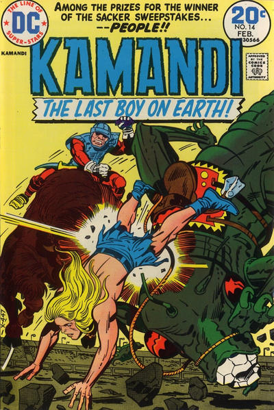 Cover for Kamandi, The Last Boy on Earth (DC, 1972 series) #14