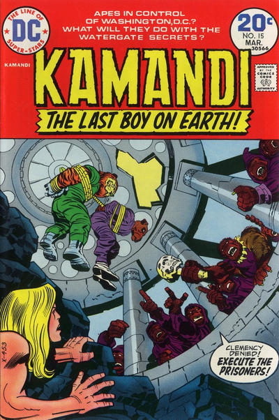 Cover for Kamandi, The Last Boy on Earth (DC, 1972 series) #15