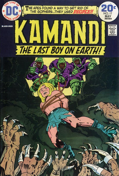 Cover for Kamandi, The Last Boy on Earth (DC, 1972 series) #17