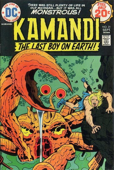 Cover for Kamandi, The Last Boy on Earth (DC, 1972 series) #21
