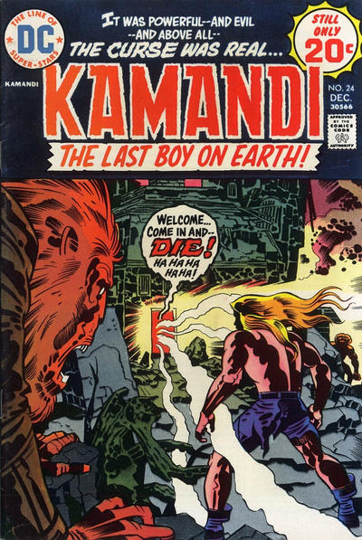 Cover for Kamandi, The Last Boy on Earth (DC, 1972 series) #24