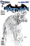 Cover for Batman (DC, 2011 series) #6 [Greg Capullo Variant Sketch Cover]