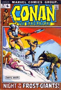 Cover Thumbnail for Conan the Barbarian (Marvel, 1970 series) #16 [British]