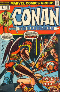 Cover Thumbnail for Conan the Barbarian (Marvel, 1970 series) #23 [British Price Variant]