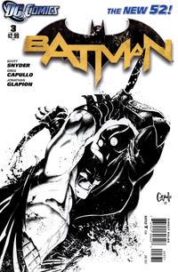 Cover Thumbnail for Batman (DC, 2011 series) #3 [Greg Capullo Black & White Cover]