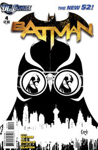 Cover Thumbnail for Batman (DC, 2011 series) #4 [Greg Capullo Black & White Cover]