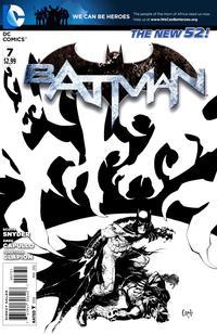 Cover Thumbnail for Batman (DC, 2011 series) #7 [Greg Capullo Black & White Cover]