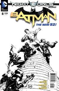 Cover Thumbnail for Batman (DC, 2011 series) #8 [Greg Capullo Black & White Cover]